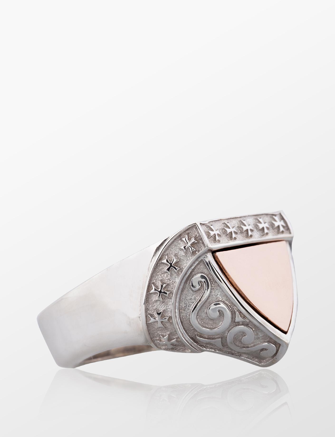 tyran jewelry shield ring kalkan yüzük erkek kadın mücevher
