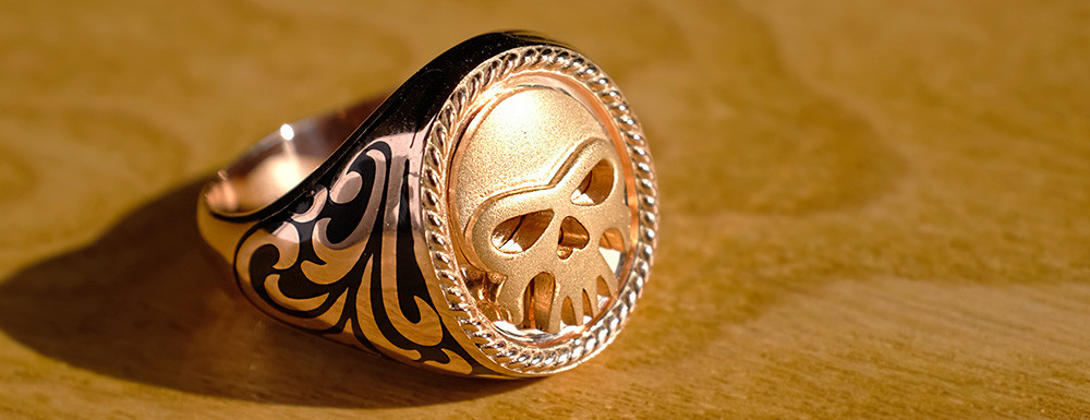 erkek kuru kafa gümüş yüzük