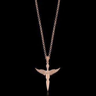 rose bayan kanatlı kılıç kolye (1)