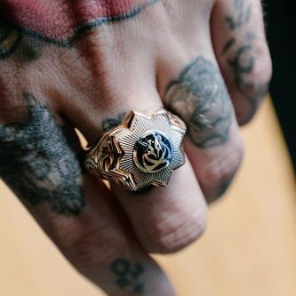 14 Ayar Altın Payitaht Broş Yüzüğü HüdHüd Kuşu Yüzük (1)