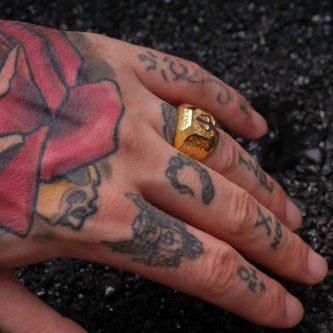 Gold Renk Erkek Mızrak Yüzük