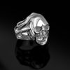 gümüş kuru kafa yüzük