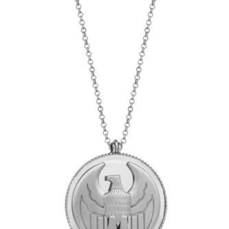 Erkek Gümüş Kolye Kartal Madalyon (1)
