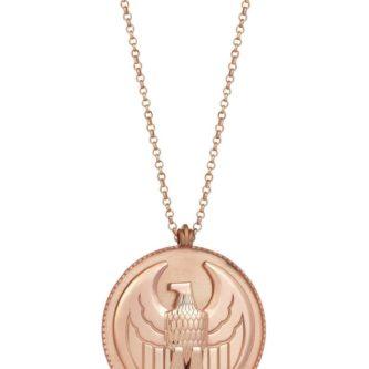 Erkek Gümüş Kolye Kartal Madalyon (2)