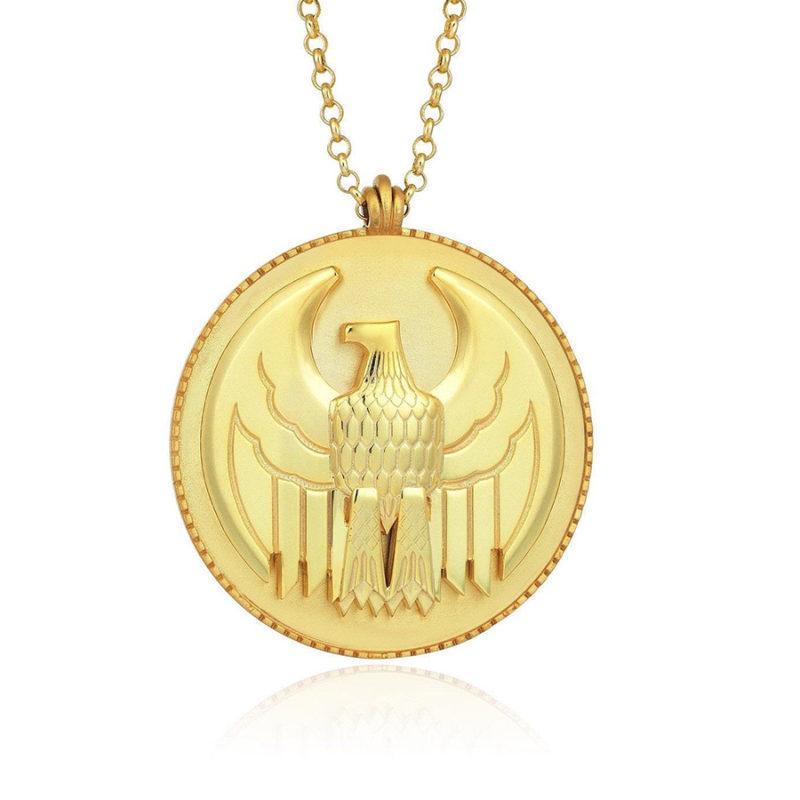 Erkek Gümüş Kolye Kartal Madalyon