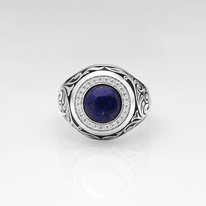 Lapis Lazuli Erkek Yüzük Lapis Taşlı